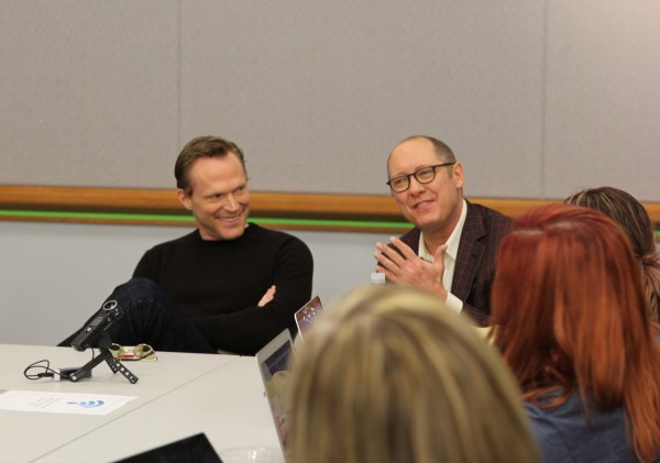 Paul Bettany and James Spader | Photo by Louise Manning Bishop / MomStart.com