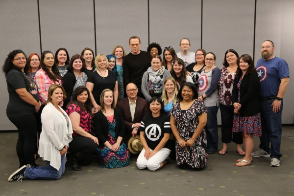 Paul Bettany and James Spader with the #AvengersEvent bloggers |Photo courtesy of Disney