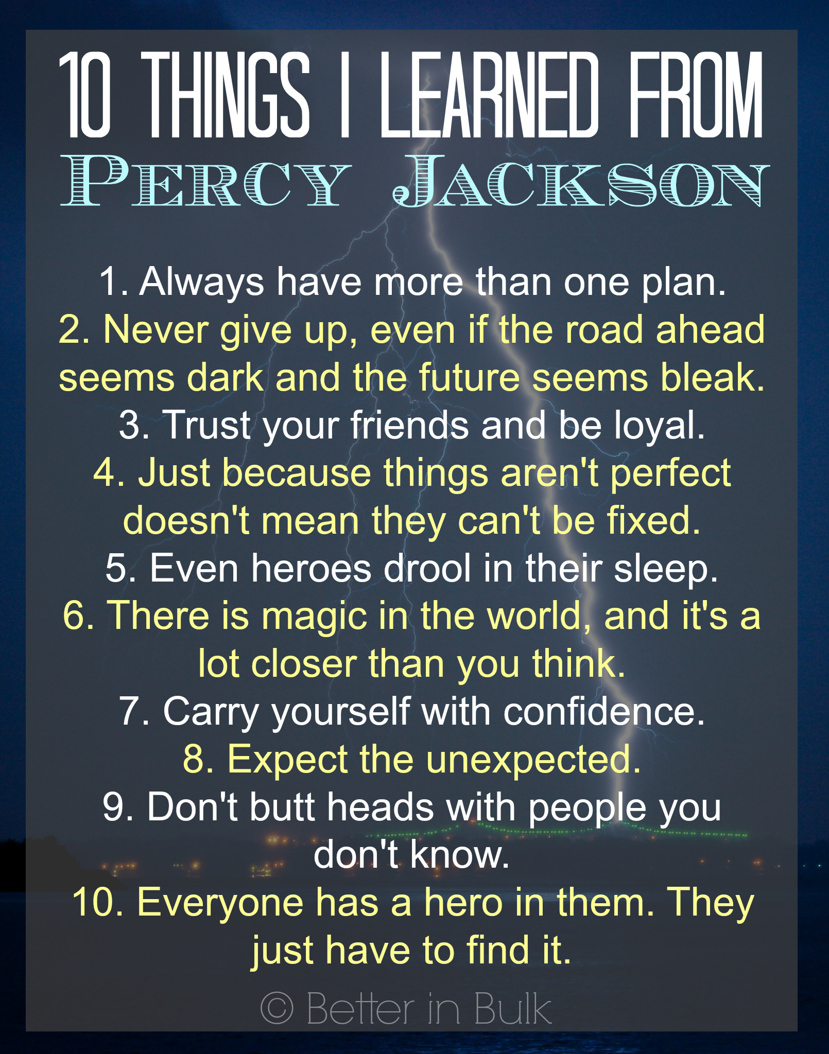 10 Things I Learned From Percy Jackson Readriordan