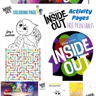 Disney • Pixar's Inside Out Activity Pages
