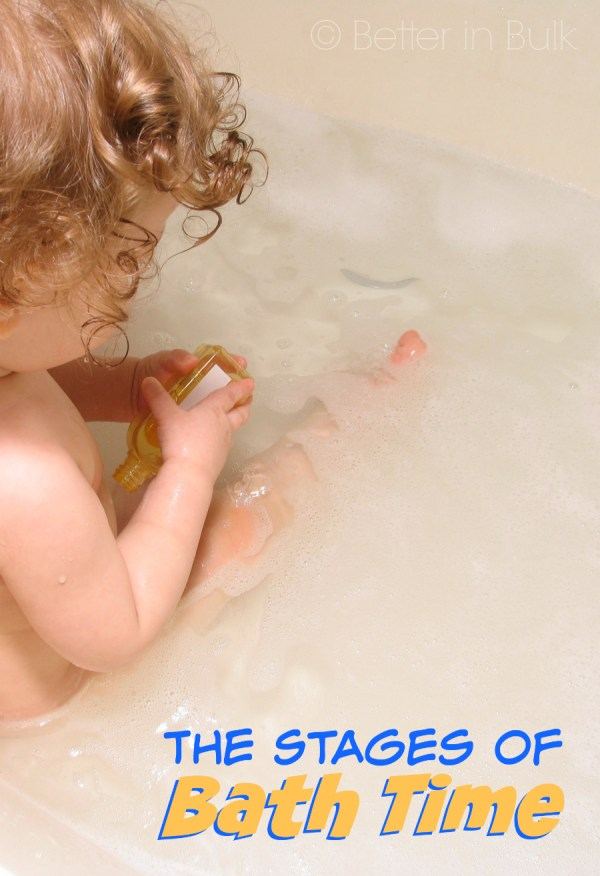 the stages of bath time - a little parenting humor