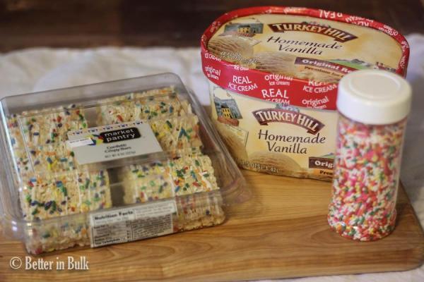 Crispy Treat Ice Cream Sandwiches