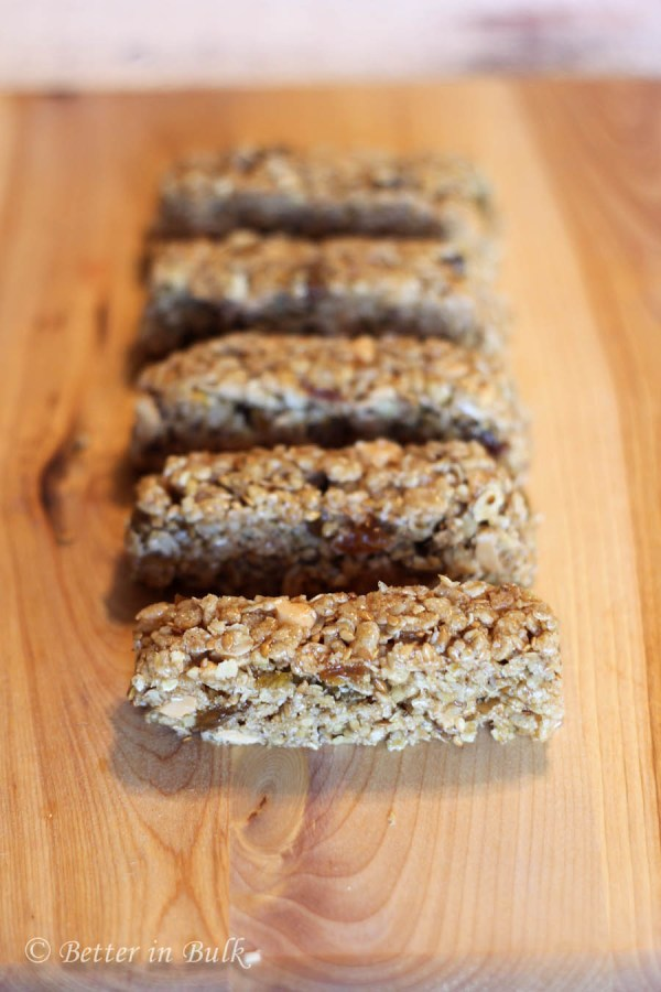 Chewy cinnamon raisin granola bars recipe by Food Fun Family