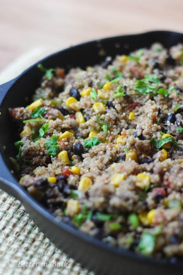 Tex-Mex Sausage Quinoa Skillet recipe