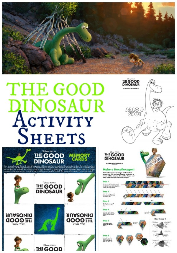 The Good Dinosaur Activity Sheets