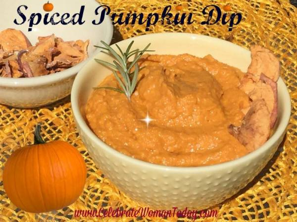 Spiced Pumpkin Dip from Celebrate Woman Today