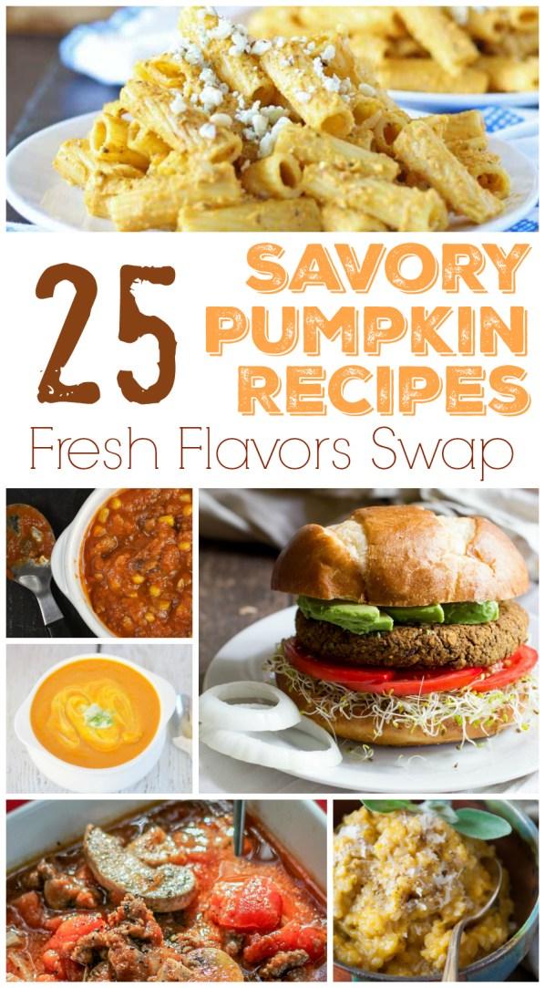 25 Savory Pumpkin Recipes - a Fresh Flavors Swap Round Up