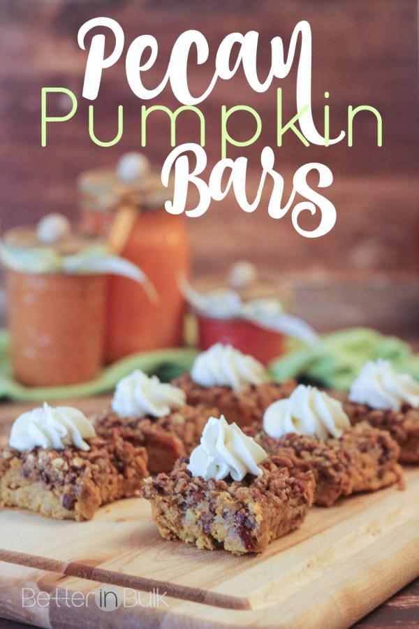 Pecan pumpkin bars recipe by Better in Bulk