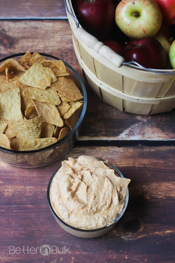 Sweet and creamy pumpkin dip recipe by Better in Bulk
