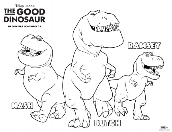 the good dinosaur coloring pages 2