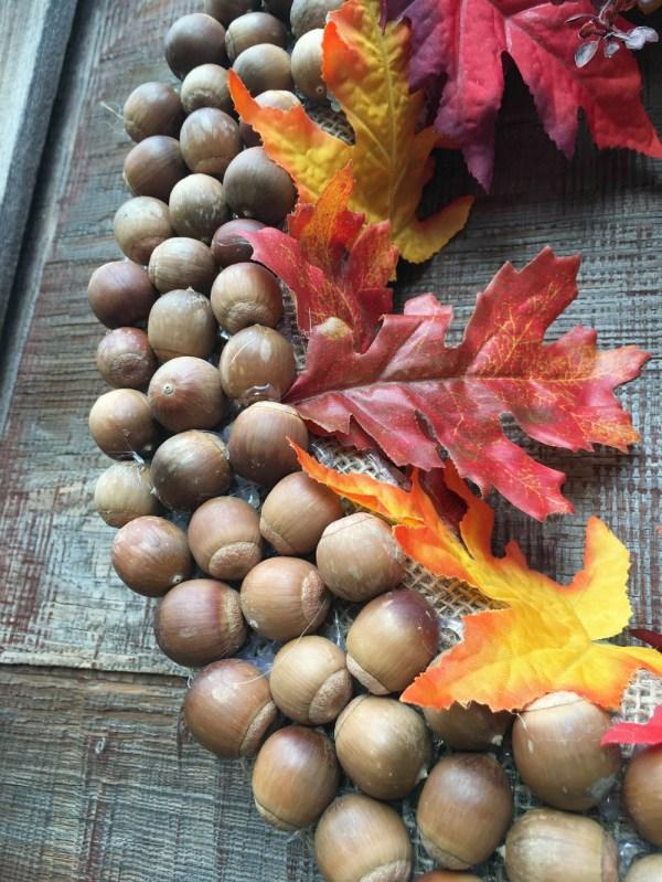 Autumn Acorn Wreath craft at Better in Bulk
