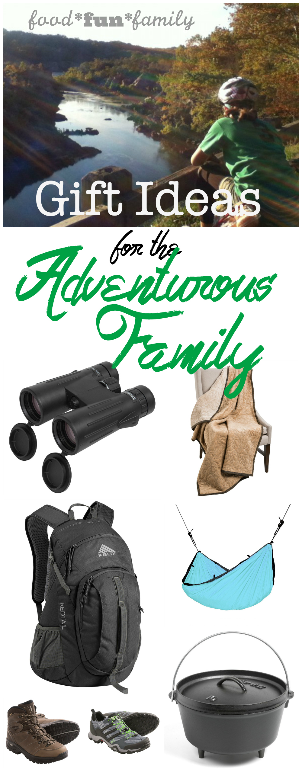 Gift ideas for the Adventurous Family from Food Fun Family