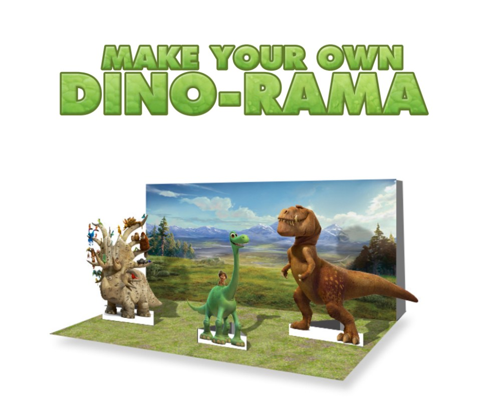 The Good Dinosaur Make Your Own Dino-rama at Food Fun Family