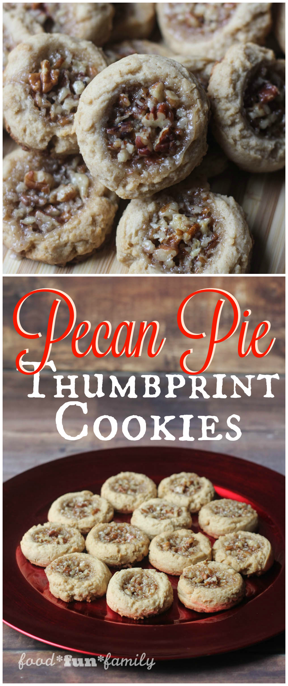 Pecan Pie Thumbprint Cookies Recipe from Food Fun Family