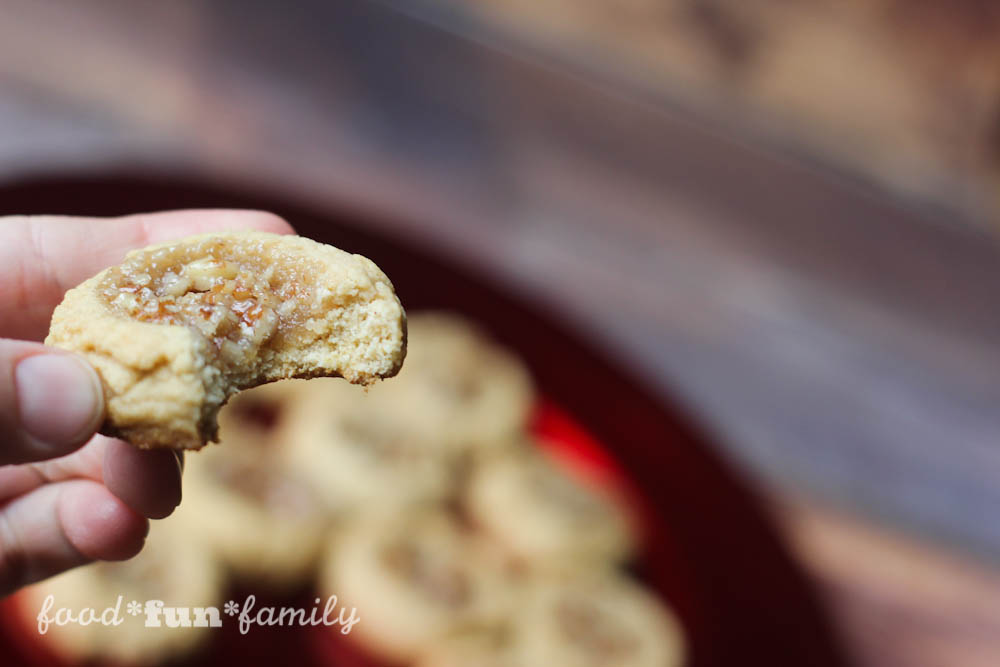 Pecan pie thumbprint cookies from Food Fun Family