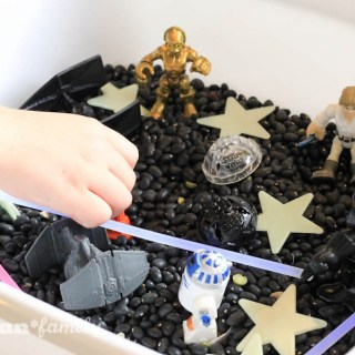 DIY Star Wars Sensory Bin for Kids from Food Fun Family