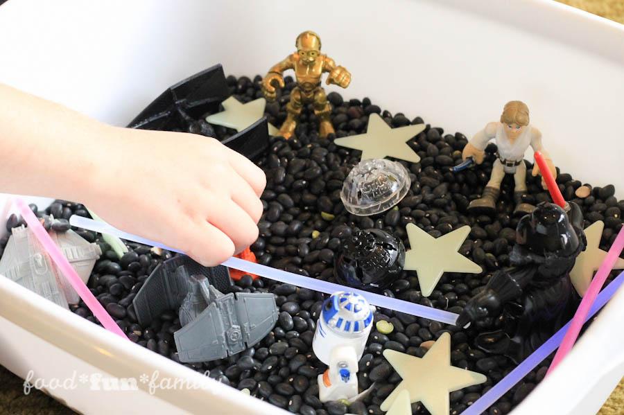 DIY Star Wars Sensory Bin for Kids from Food Fun Family