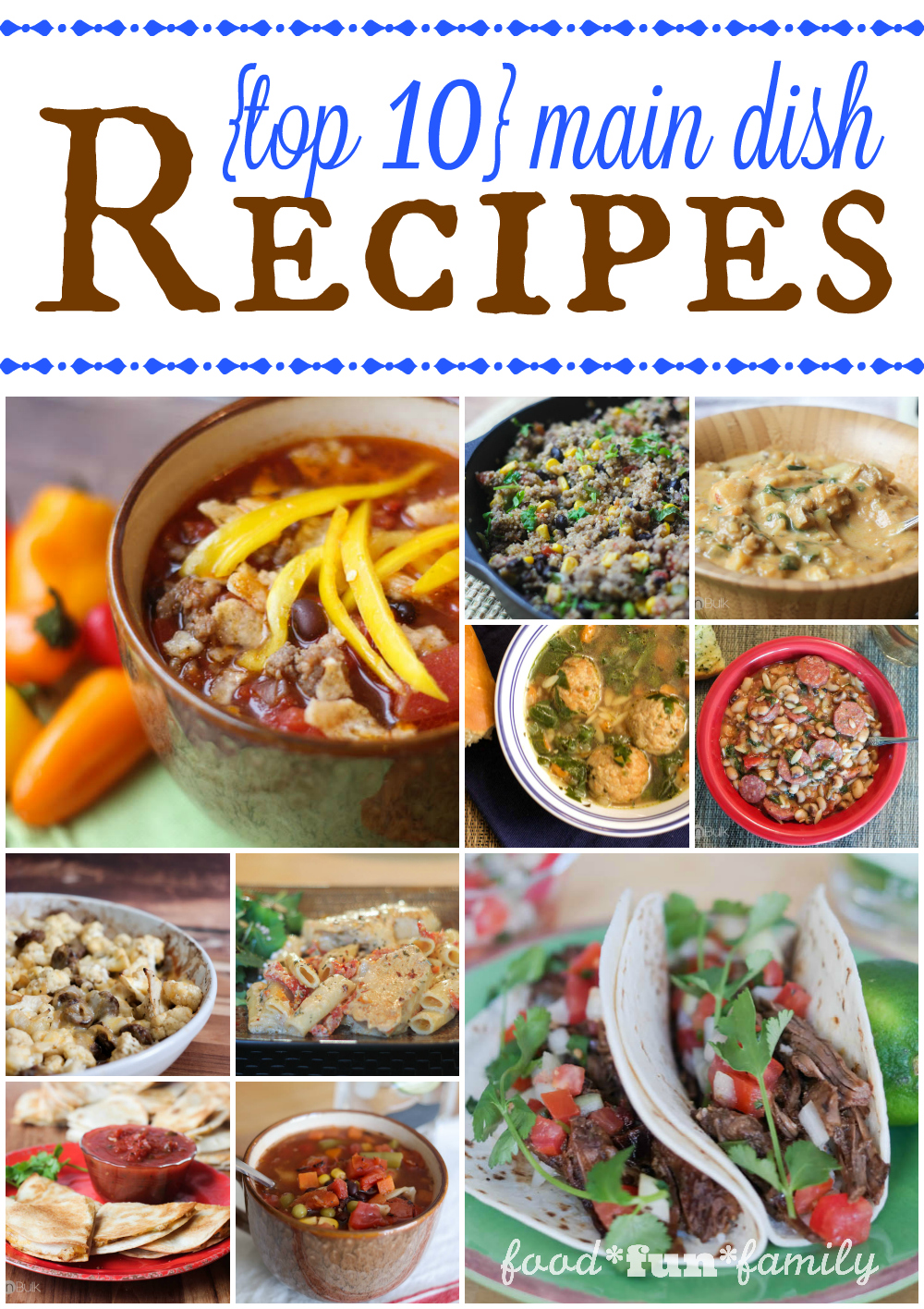 Top 10 Main Dish Recipes of 2015 from Food Fun Family