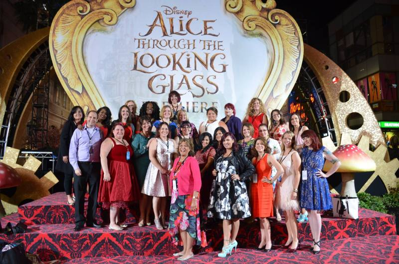 Alice Through the Looking Glass red carpet blogger group