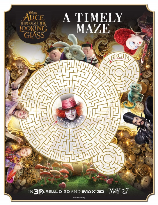 Alice Through The Looking Glass maze