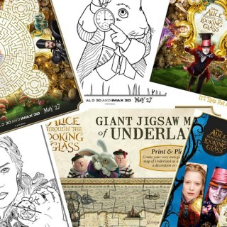 Alice Through the Looking Glass Activity Sheets