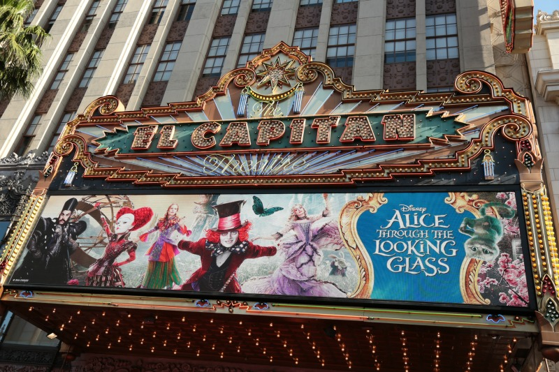 El Capitan Theater Alice Through the Looking Glass red carpet event