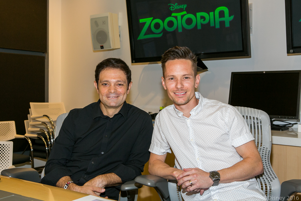 Renato dos Anjos and Chad Sellersat the Zootopia In-Home Global Press Event