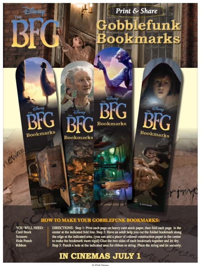 The BFG bookmarks