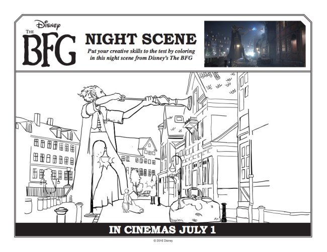 The BFG coloring pages (multiple pages to color!)