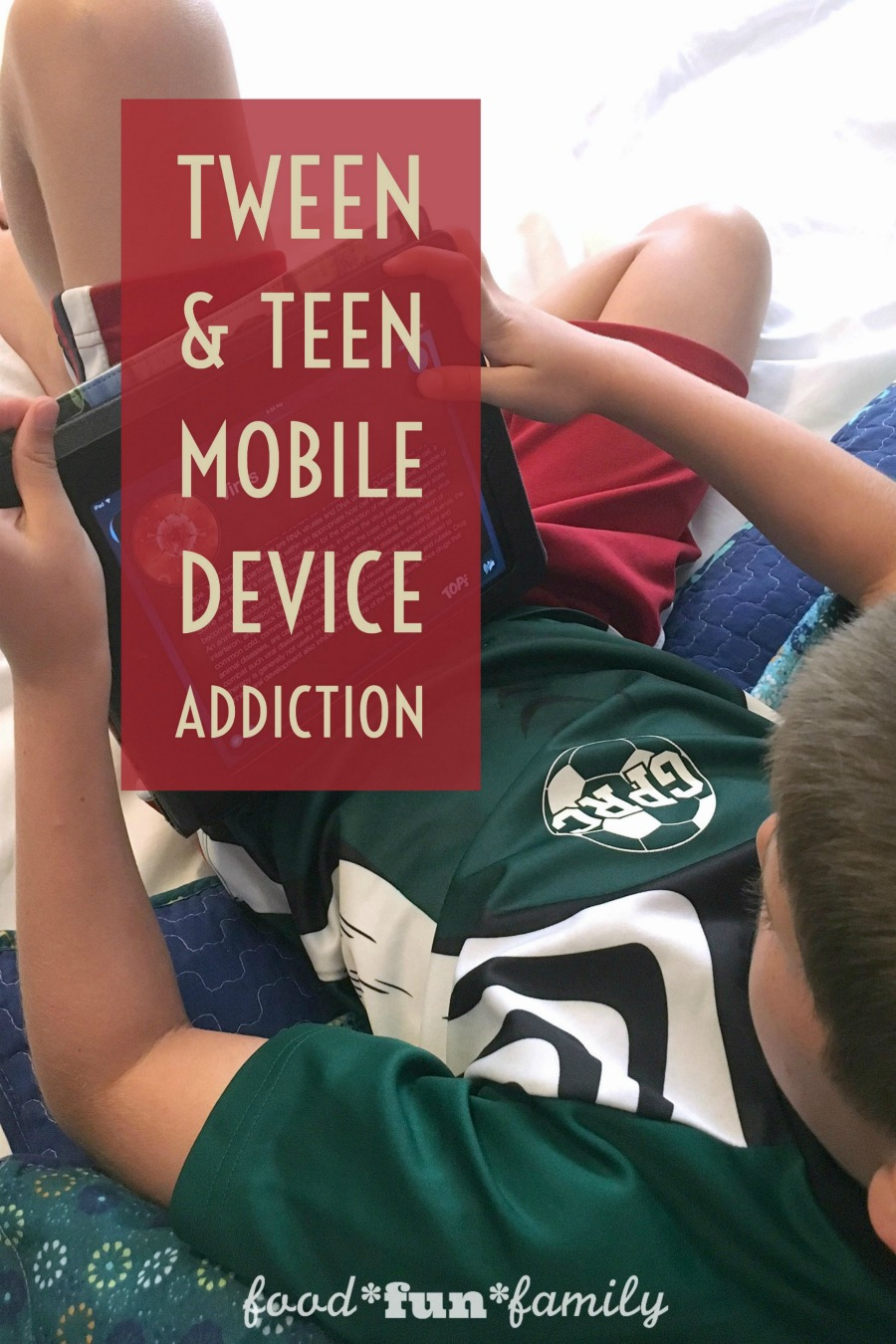 Tween & teen mobile device addition - it's a growing problem, but there are things that parents and kids can do together to combat it