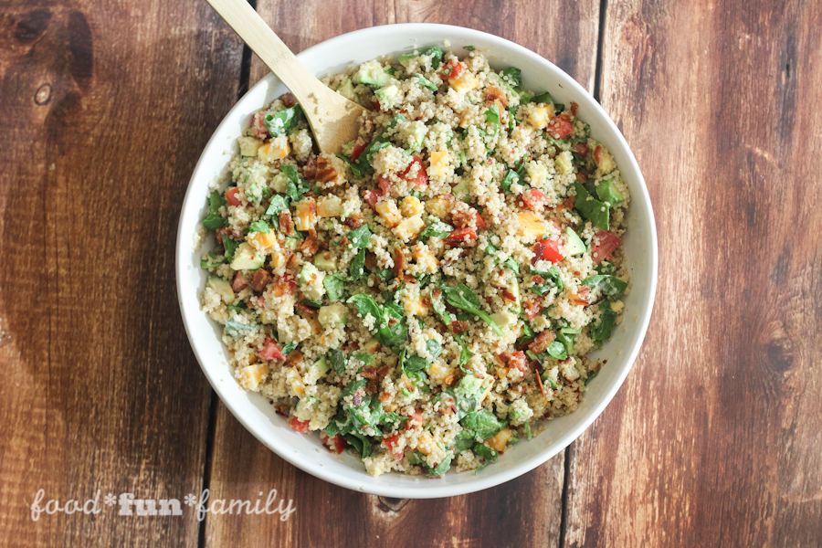 "Avocado Bacon Ranch Quinoa Salad - a delicious cold ""loaded"" quinoa salad that is perfect for summer time gatherings and barbecues"