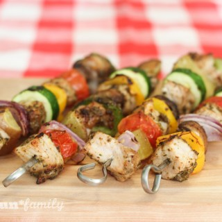 Marinated pork and vegetable kabobs - dinner in just 30 minutes! This is Real Flavor, Real Fast and it is guaranteed to be a hit with the whole family! #RealFlavorRealFast AD