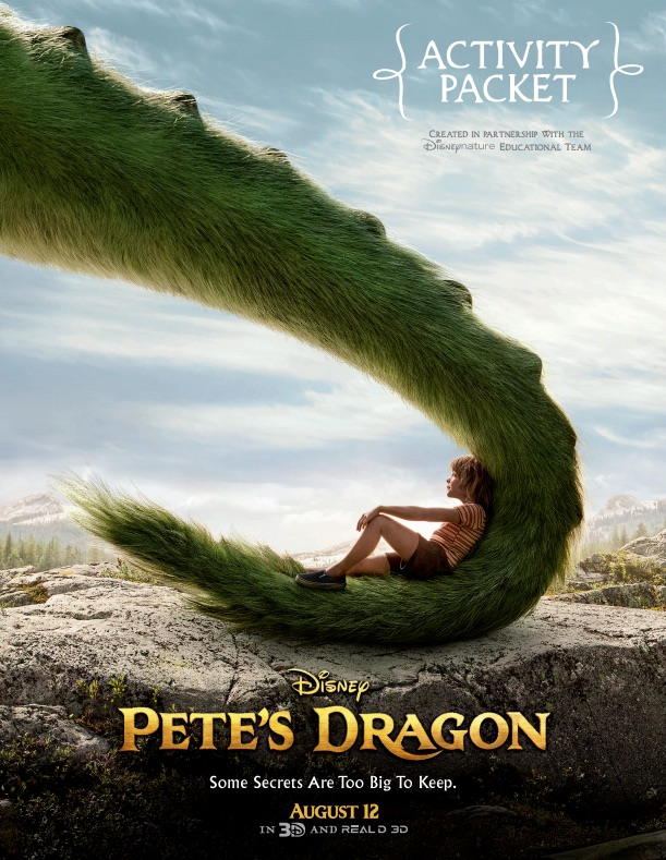Disney's Pete's Dragon activity packet - print at home and then let your imagination take over! Lots of fun activities inspired by the new movie that will get kids active and using their imaginations.