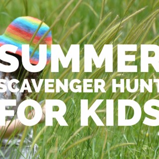 Summer scavenger hunt for kids - a free printable activity page that will help kids get active outside and off their devices!