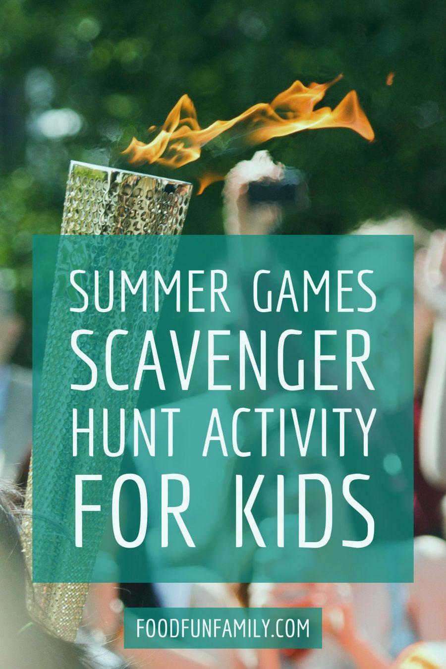 Summer Games Scavenger Hunt activity for kids