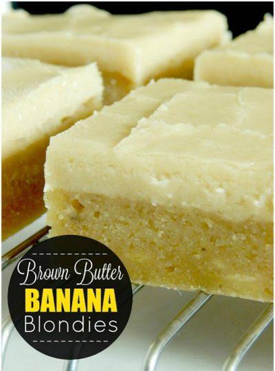 Brown Butter Banana Blondies