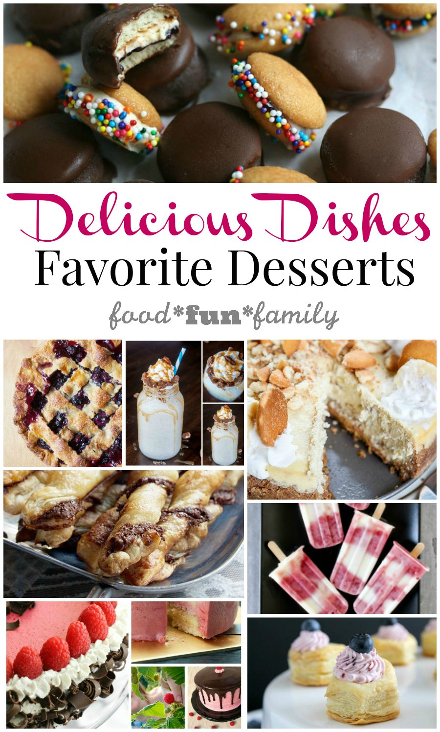Delicious Dishes Recipe Party 30 - Host Favorite Dessert Recipes at Food Fun Family (from pies to frozen treats and more!)