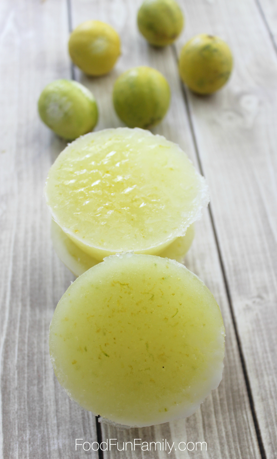 Lime and coconut sugar scrub bars using essential oils and skin-friendly, natural ingredients from Food Fun Family
