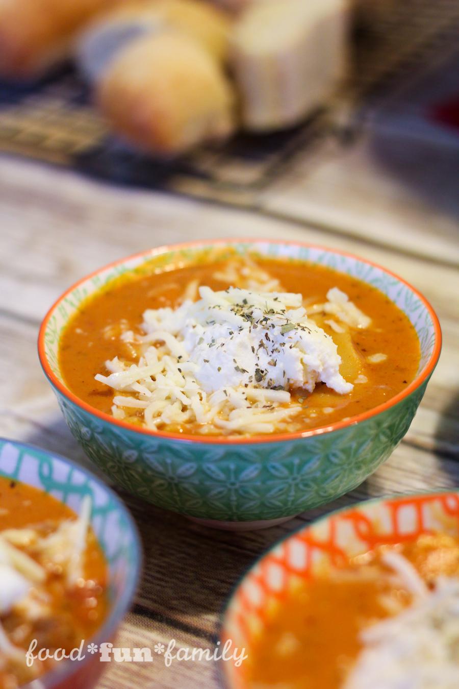 EASY Homestyle lasagna soup recipe