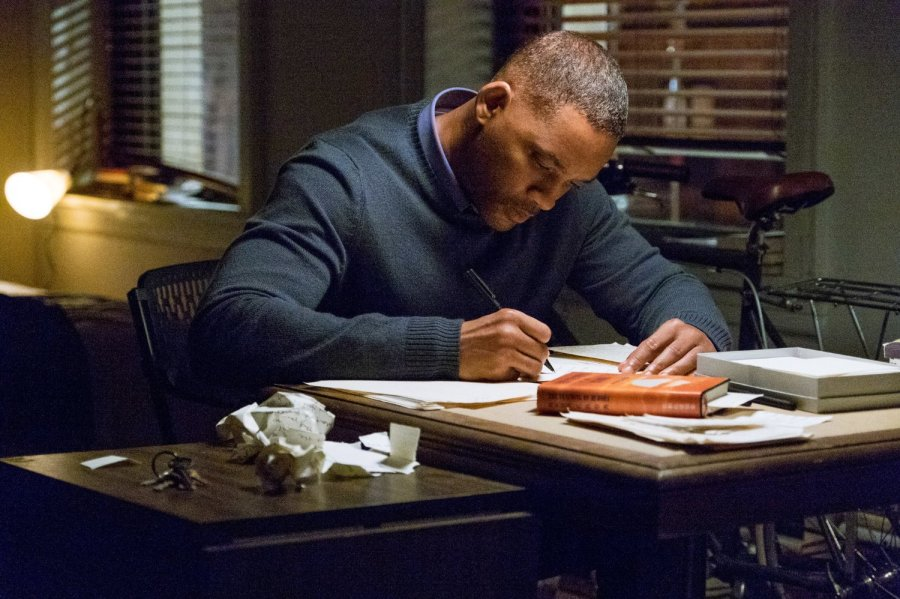 Will Smith in Collateral Beauty -- Photo by Barry Wetcher - © 2016 Warner Bros. Entertainment Inc., Village Roadshow Films North America Inc. and Ratpac-Dune Entertainment LLC