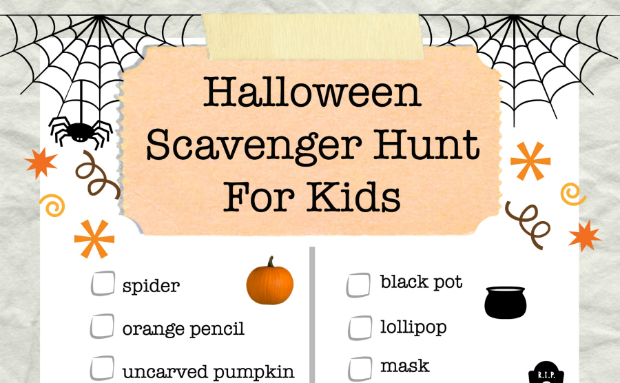 Halloween Scavenger Hunt for Kids from Food Fun Family