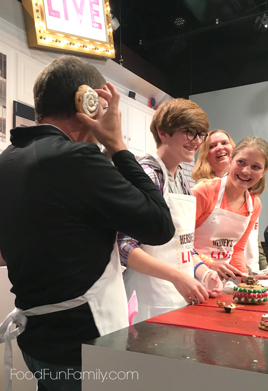 Hershey's Kitchens LIVE cooking show at Hershey's Chocolate World