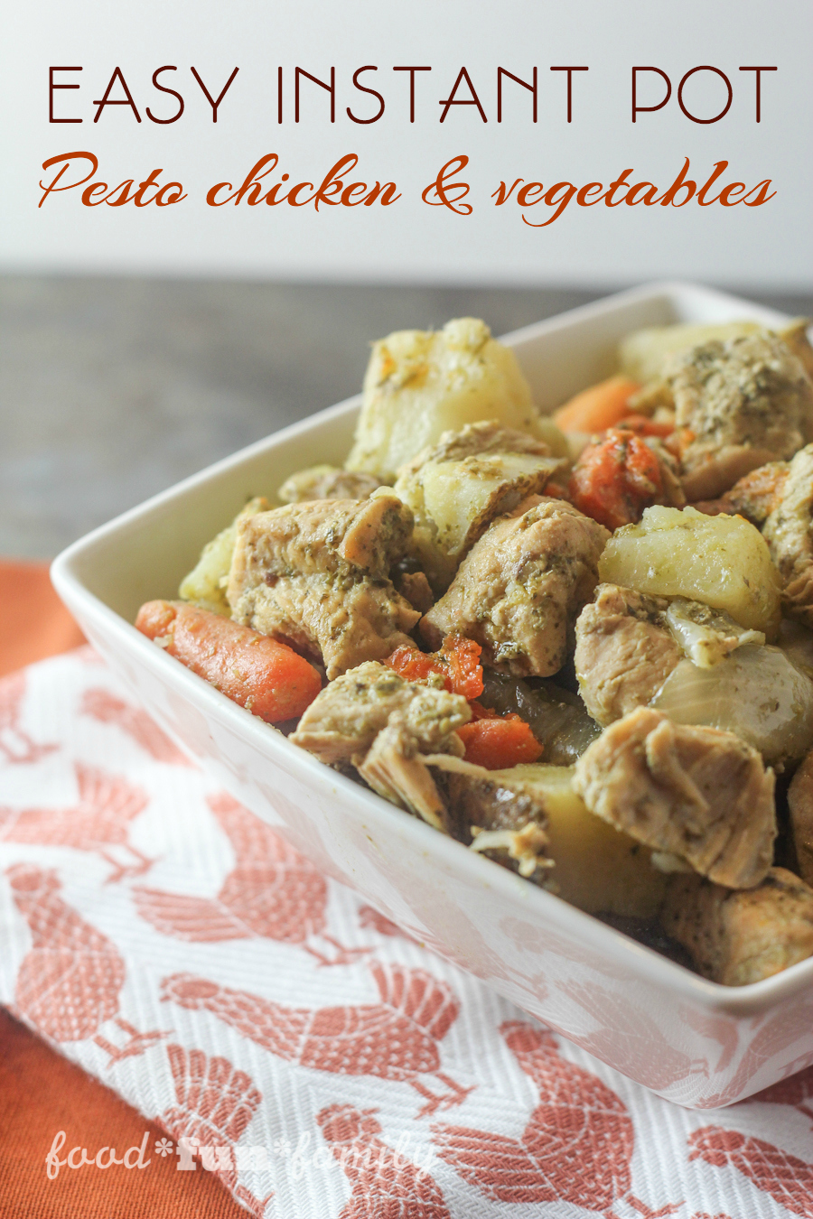 Easy pesto chicken and vegetables from Food Fun Family