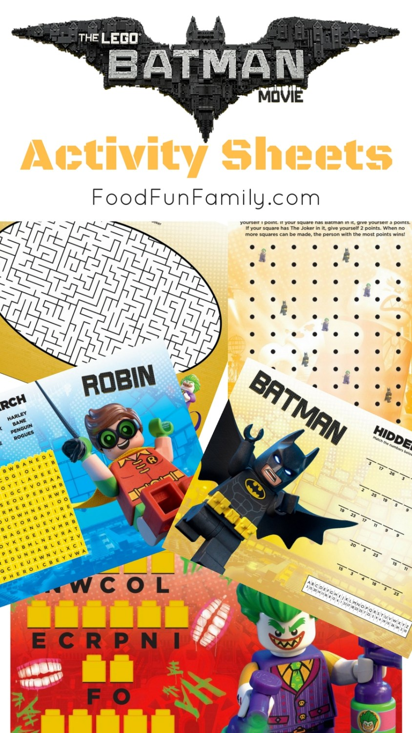 LEGO Batman Activity Sheets