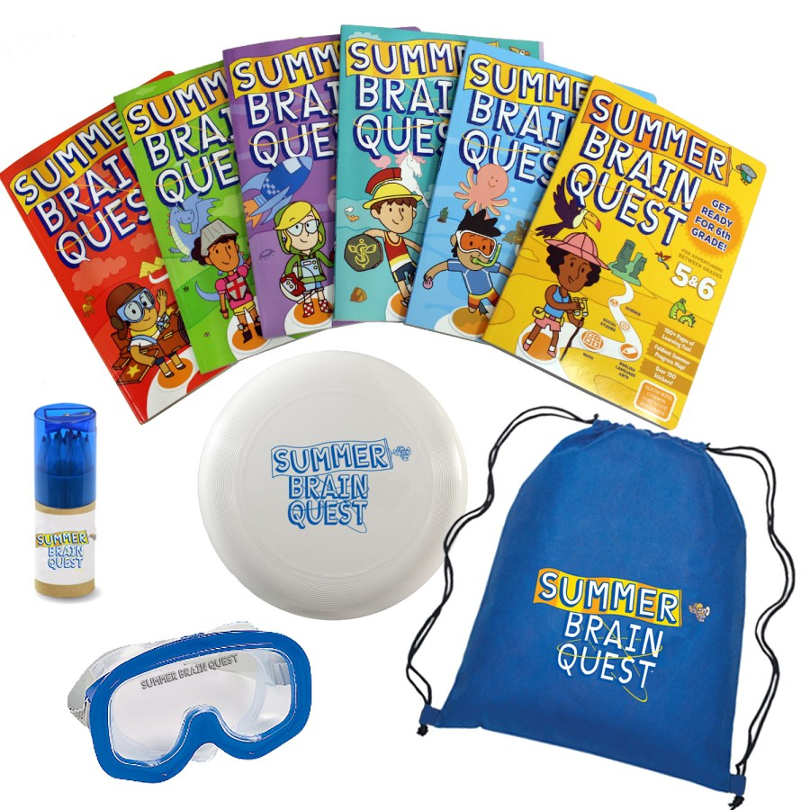 Summer Brain Quest workbooks summer prize pack giveaway from Workman Publishing and Food Fun Family