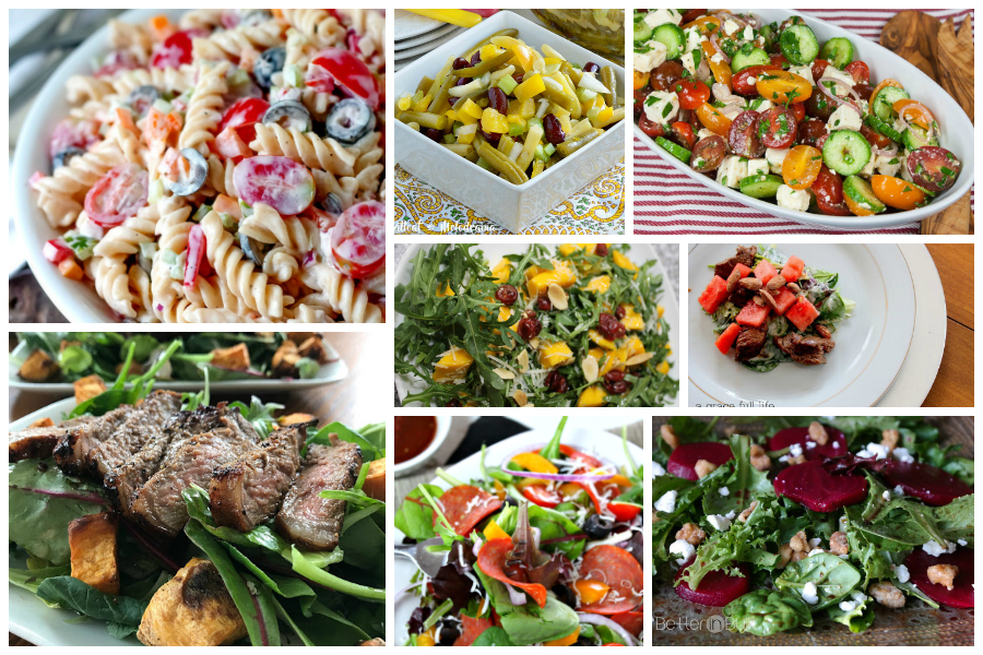 A Delicious Dishes collection of tasty, fresh salad recipes that take you beyond lettuce and tomatoes!