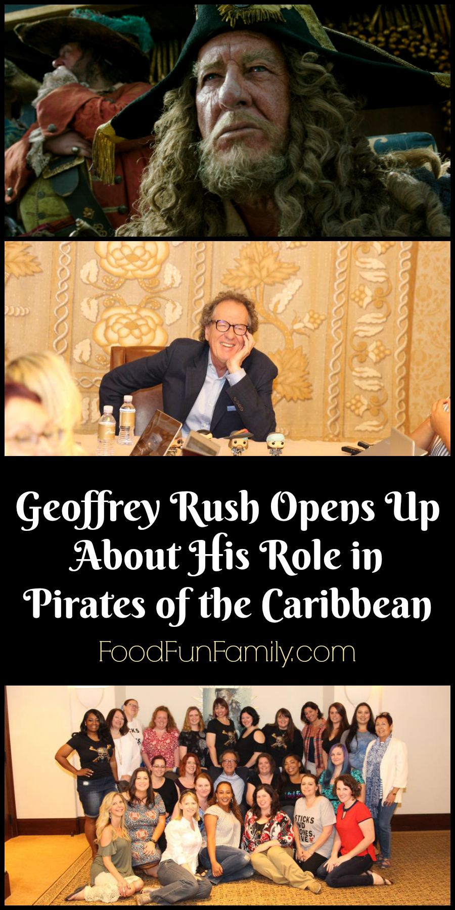 Geoffrey Rush Opens Up About His Role in Pirates of the Caribbean