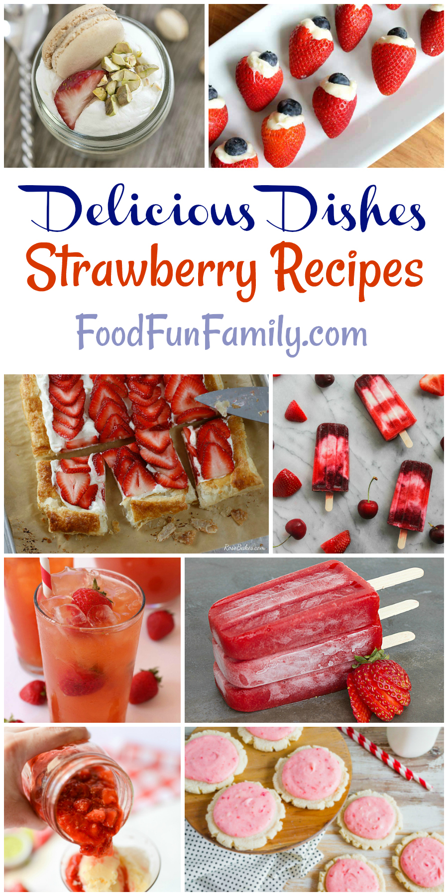 Summer time strawberry recipes - from berrylicious frozen treats to baking with strawberries. So many tasty dishes with strawberries!