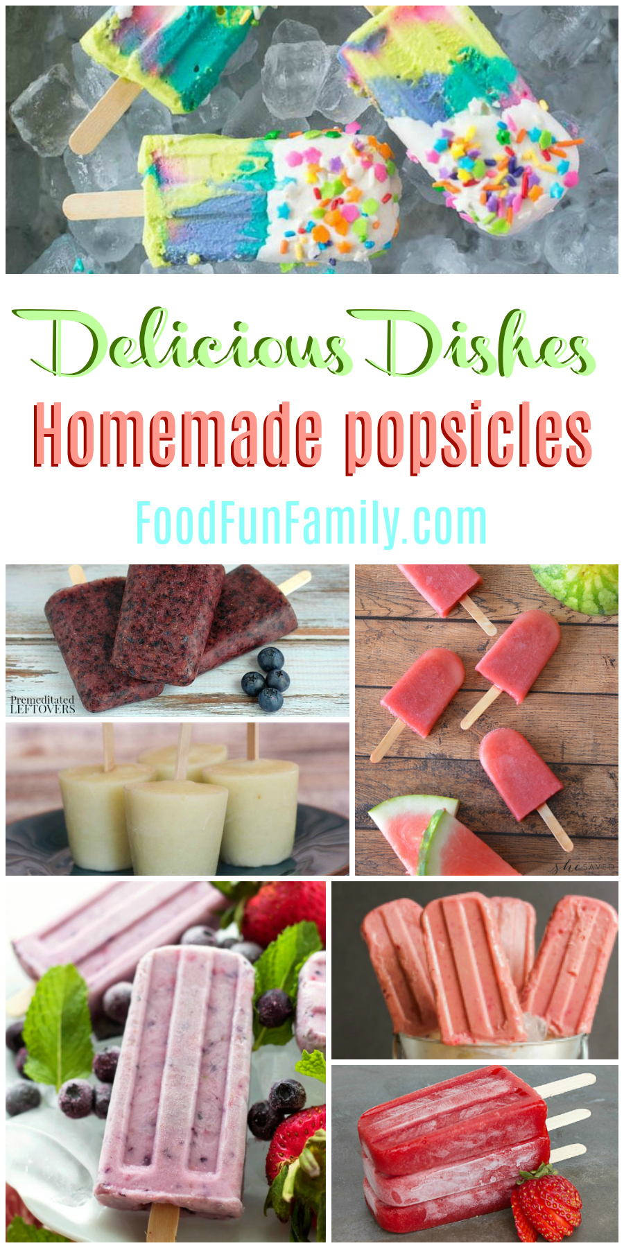 Homemade popsicles - the perfect summer treat! A Delicious Dishes recipe party collection