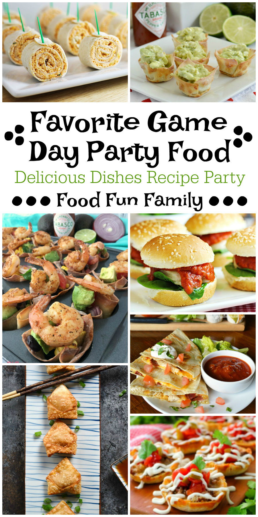 Favorite Game Day Party Food - a Delicious Dishes Recipe Party with Food Fun Family